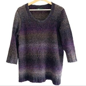 Woolwich Marled Knit Wool Round Neck Sweater